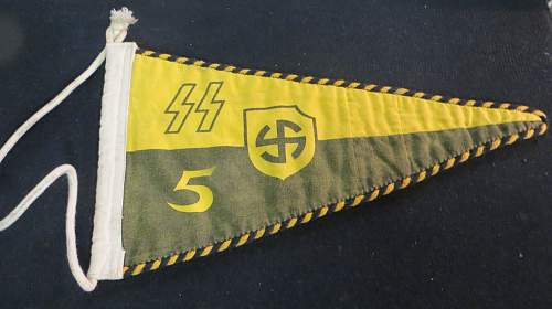 SS yellow pennant... Any details about this one, Real or Fake? Value?