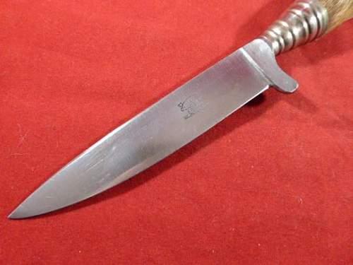 """W.Clauberg """"vintage"""" deers foot dagger"""