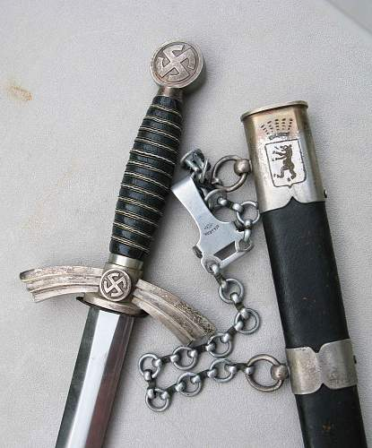 Presentation Sniper Dagger & luftwaffe 1st Jagdgeschwader 27