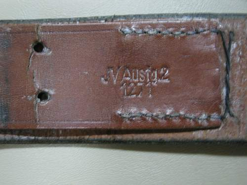 RZM Leather Belt Markings