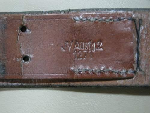 RZM Leather Belt Markings