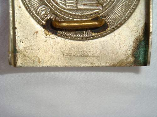 Before & After Photos of Cleaned/Restored HJ Buckle