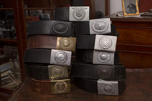 Some belts and buckles