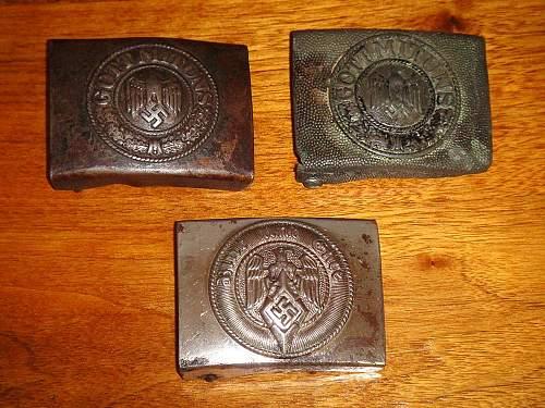 Three  German Buckles