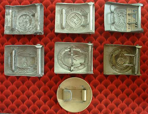 Opinions please on these seven buckles