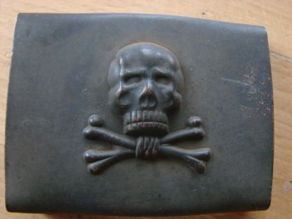 Another interesting buckle: skull and crossed bones