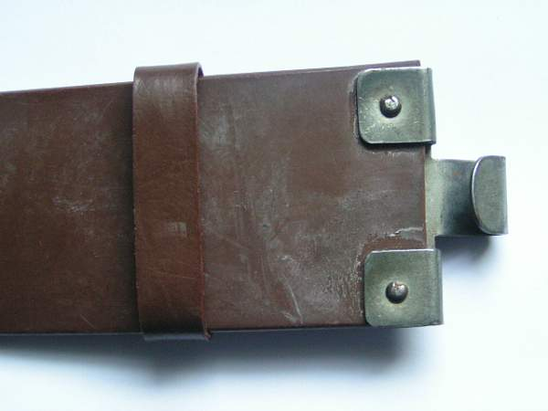 Brown belt and buckle