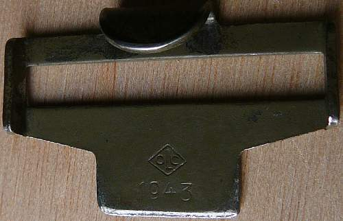 Belt catch maker marked and dated under sewen leather