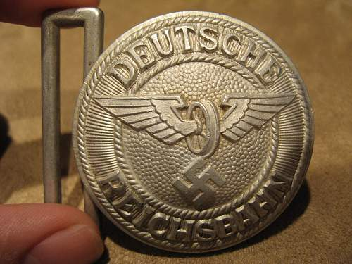 2 Nice Buckles picked up at Gun Show: Reichbahn and HJ