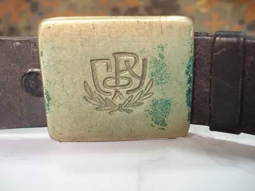 GRU belt & buckle genuine