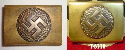 "Unidentified ""large swastika"" buckle ?"