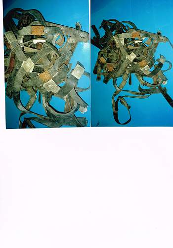 German belts and buckles found in Jersey Channel Islands.