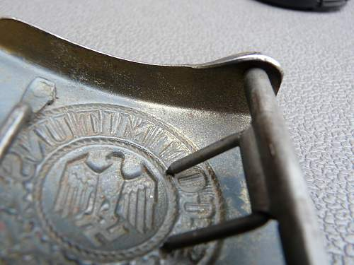 WWII German Belt Buckle.  KM?