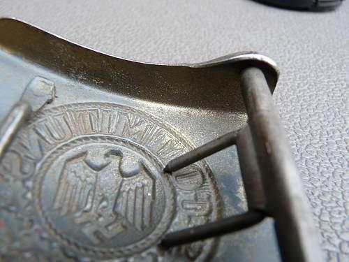 WWII German Belt Buckle.  KM?