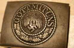 Two belt buckles from Finland: SA and Heer