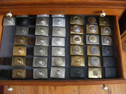 How do You display Your buckle collection?