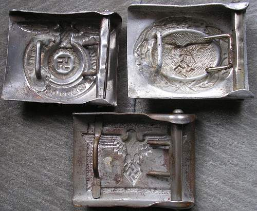 these buckles real? SS, Droop tail Luftwaffe and Student Bund
