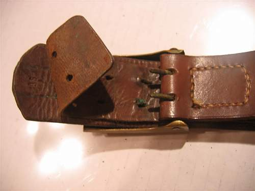 WWI Belt & Buckle with ammo pouch