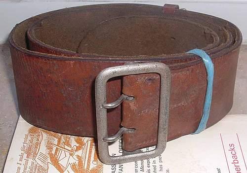 NSDAP /SA /Wehrmacht Officiers Buckle Belt ?