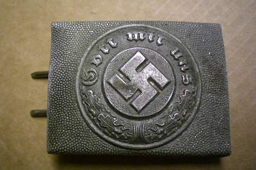Some buckles, sadly most denazified