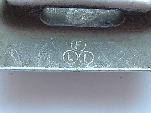 RZM Stamp on early 60cm belt and buckle.
