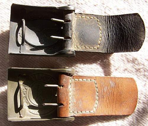 Picked Up A Couple of Nice Buckles Today!  Haarmann Luft and H&N Heer