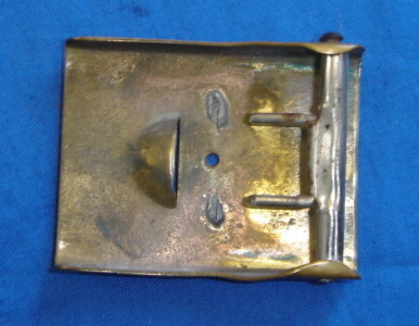 Which 2 peice buckle had a single mounting hole?