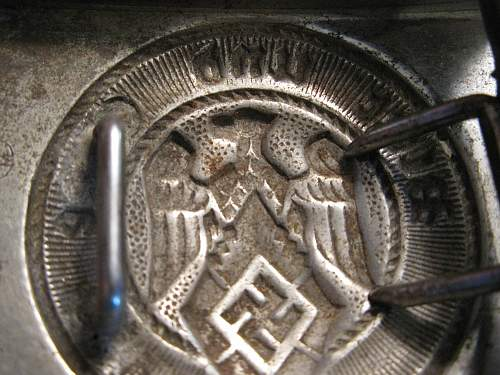 three German buckles: two Heer and one Hitler Jugend