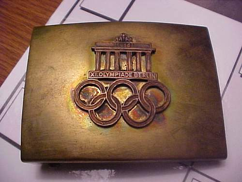 1936 Berlin Olympics Buckle