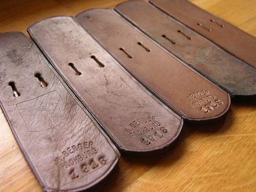 ---- the leather support tab for buckles -----