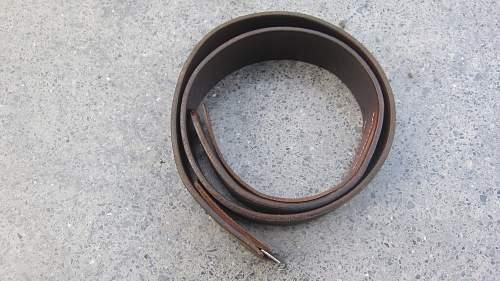 Nice German leather belt find