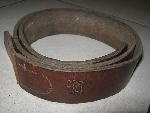 WW1 Ulanen regiment belt U.R.1916 Genuine?
