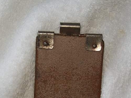 Strange Mark on a belt
