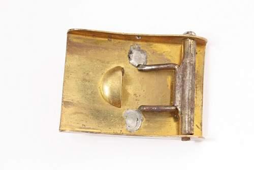 Unknown (Miniature) Belt Buckle - Third Reich Era - Salesman's Sample or Child's Play Uniform