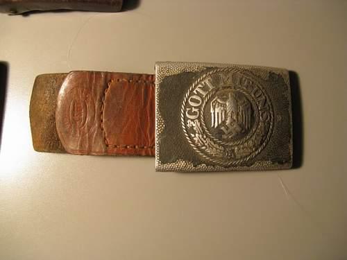 My first WW2 belt buckles