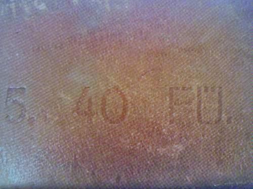 Marking on 1940 Brown Belt