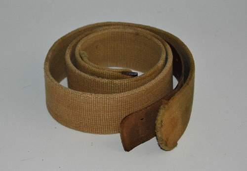 tropical canvas belt