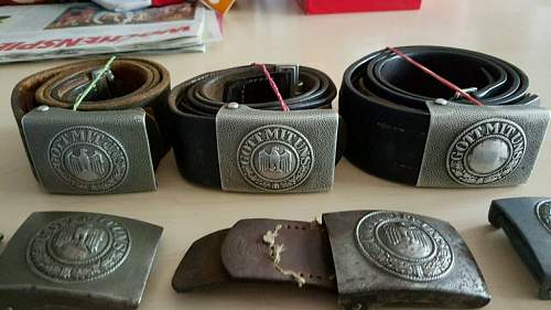 Various Buckles & Belts. Denazified, are they worth  getting?