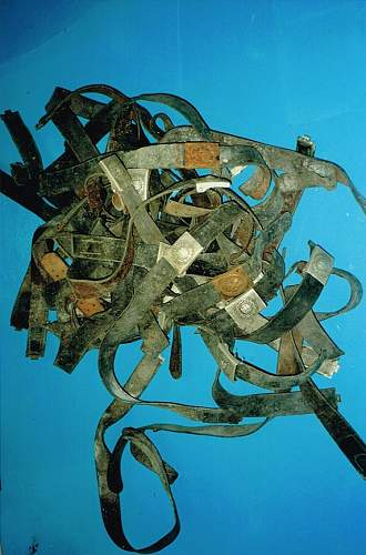 Attic find of belts and buckles.