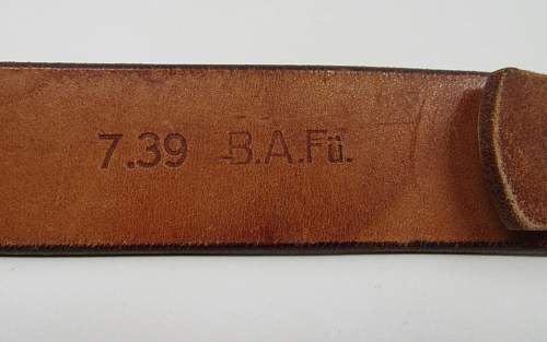 brown belt with unit marking?