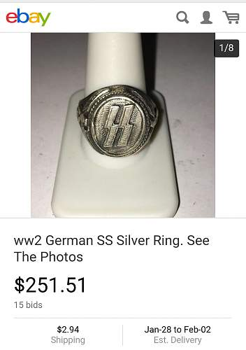 YES YOU CAN!!! Sell Third Reich buckles on eBay, as long as they are fake! Check these out!!!