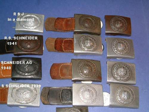 Heer and Luftwaffe buckles with tabs