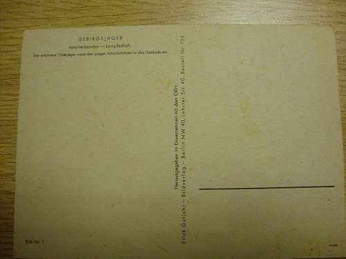 Gebirgsjager Postcards