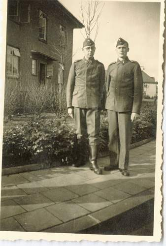 Could someone help me identify the army divisions of these photographs?