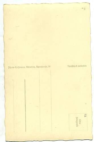Hitler signed postcard