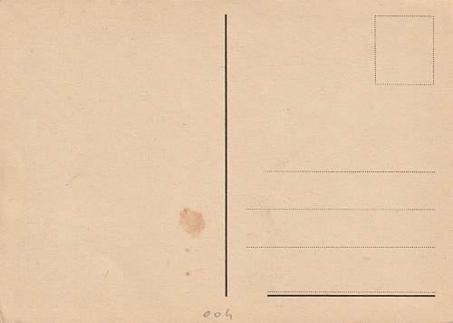 German or Italian made postal card?