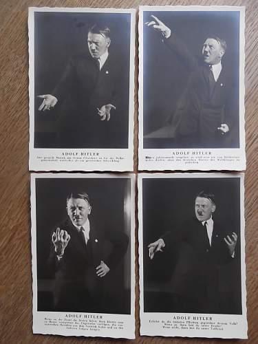 Early Hoffman postcard set of AH