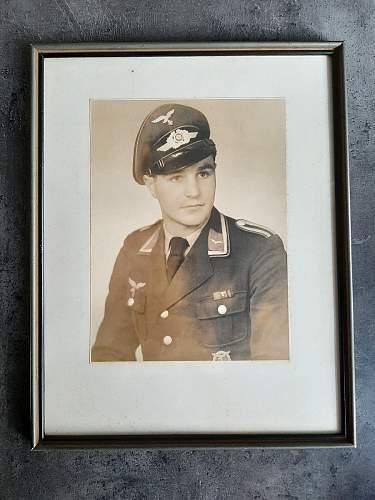 Framed Luftwaffe Portrait