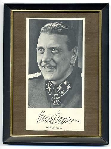 Otto Skorzeny Autograph