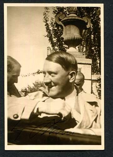 Hitler handsigned photo...original??